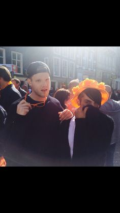 Scott and Mitch looking fab on Kings Day!