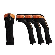 Andux 4 Pack Long Neck Golf Hybrid Club Head Covers Interchangeable No. Tag CTMT-01