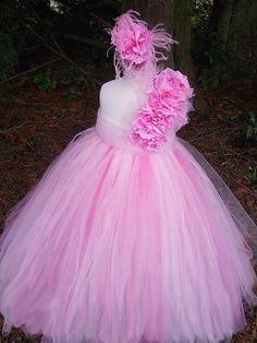 * Paris Pink Princess Girls Tutu Dress <3 I want this for my little sweet angel ...