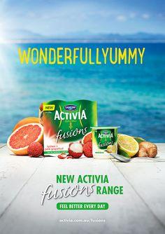 Danone Activia Fusions Yogurt Advertising Campaign