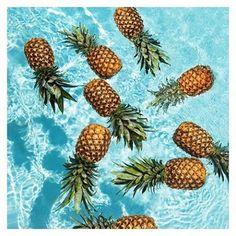 Pineapple attack! || #pinapple #tumblr #pool #miami #soflo #bikini #beach #surf #fruits #health #sourceunknown