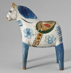 DALA HORSE, Swedish, folk art, early 20th century -- DALAHÄST, allmoge, Dalarna tidigt 1900-tal.