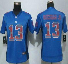 Women s New York Giants Jersey 13 Odell Beckham Jr Royal Blue Strobe 2015  NFL… All 5e8bbbe2e