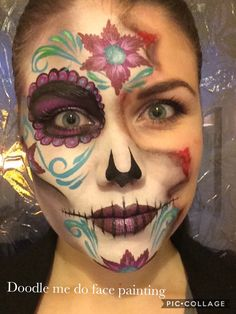Sugar skull by doodle me do face painting