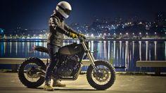 Wow! Honda Dominator NX650 Street Tracker by Ton-Up Garage #motorcycles #streettracker #motos | caferacerpasion.com