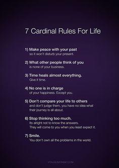 Rules for life | İlgili Bilgili