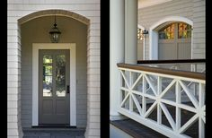Porch railing - decorative panels | Front Porch Passion | Pinterest (Cedar Patio Step)