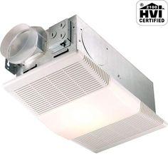 NuTone 70 CFM 4 Sone Ceiling Mounted HVI Certified Bath Fan with Heater an White Fans Exhaust Fan Combination