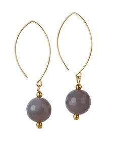 Gold filled oval open drop earrings with grey agate stone. Jewellery Earrings, Drop Earrings, Jewelry, Irish Design, Agate Stone, Artisan, Perfume, Pendant Necklace, Dublin