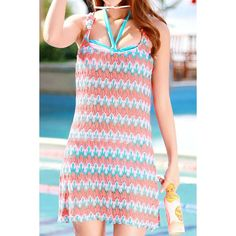 Wholesale Fashionable Color Spliced Printed Three-Piece Swimsuit For Women Only $12.62 Drop Shipping | TrendsGal.com