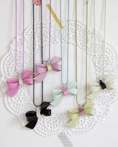 Bow necklace by None Such Things