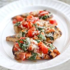 ♥ grilled bruschetta chicken.