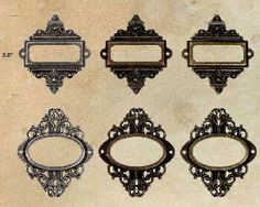 Tim Holtz® Idea-ology Findings - Ornate Plates (6 Pk)