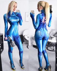 Thank you for sharing this beautiful cosplay selfie of her Zero suit Samus! Belle Cosplay, Cosplay Girls, Cosplay Style, Comic Con Cosplay, Marvel Cosplay, Mode Alternative, Alternative Fashion, Zero Suit Samus, Samus Aran