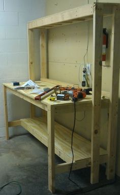 How To Build A Workbench For Your Garage To Get Organized » The Homestead Survival