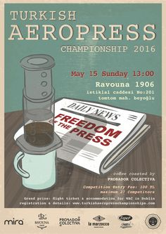 Creative Posters of AeroPress Championships 2016 Rad Coffee, Coffee Art, High End Coffee Makers, Aeropress Coffee, Creative Posters, Perfect Cup, Coffee Roasting, French Press, Barista