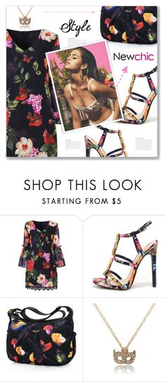 """""""#357) FLORAL SUMMER - NEWCHIC"""" by fashion-unit ❤ liked on Polyvore featuring easydresses"""