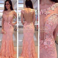 Aliexpress.com: Compre Vestidos De Festa Renda Longo pérolas Beading Lace…
