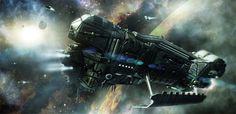 EVE ORE ship concept.