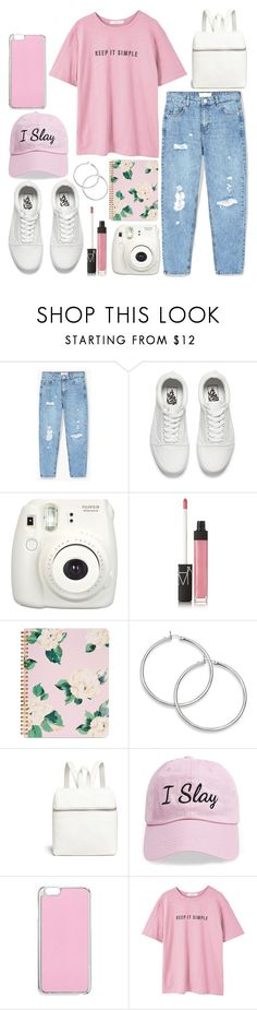 """Comfy and lazy pink"" by angelwingsoutfits ❤ liked on Polyvore featuring MANGO, Vans, NARS Cosmetics, ban.do, Kara, Steve Madden and Miss Selfridge"