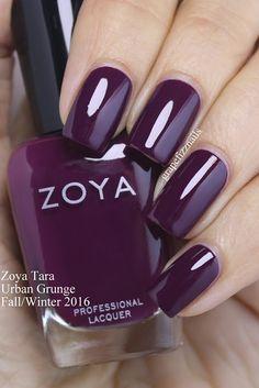 Zoya Tara - Grape Fizz Nails