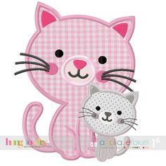 Kitty Mommy & Me - Hang to Dry Applique