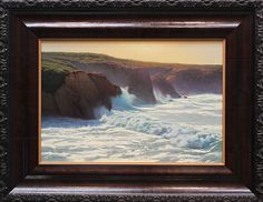 Garrapata Light & Surge by Kevin Courter Oil ~ 11 x 16
