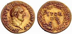 A Rare and Highly Important Roman Gold Aureus of Vitellius (69 C.E.), From the Boscoreale Hoard, Among the Finest Aureii of this Emperor Extant and Among the Most Visually Appealing of All Roman Coins.