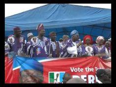Gov. Abiola Ajimobi of Oyo State at the reelectFayemi Mega Rally www.reelectfayemi.com
