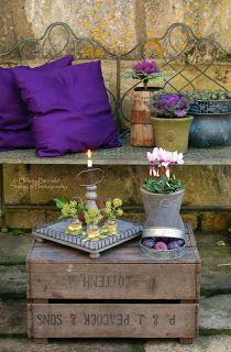 Restful, rustic little corner From: Ana Rosa, please visit Outdoor Rooms, Outdoor Gardens, Outdoor Living, Outdoor Decor, Magic Garden, Dream Garden, My Secret Garden, Plantation, Rustic Charm