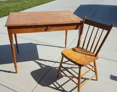 custom antique postcard table and chair set painted furniture ideas, chalk paint, painted furniture, repurposing upcycling