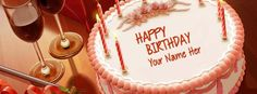 Want to write name on Birthday Cake Facebook Cover? Write your or your friend name on birthday cakes fb covers. Its easy, you will love these birthday cakes name covers.