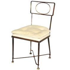 Fine Side-Chair by Gilbert Poillerat
