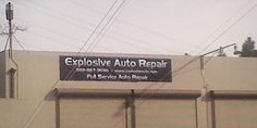 A bad sign name (Daemon_of_Mail via Reddit) Business Signs, Business Names, Bank Of America, Funny Signs, Latest Video, Lol, Posters, Entertaining, Humor