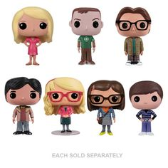 Mix together the Big Bang Theory gang and Pop Vinyl Figures and you have the start of an awesome collection or a very cool gift for your resident geek - at 9.5 cm tall they are seriously collectible and a lot of fun to have around.