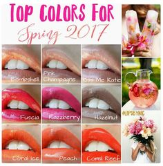 Spring Lip color Trends... LIPSENSE waterproof, smudge proof, Kiss proof lipstick to order audreyfoxphotography@gmail.com