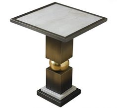 Global Views | Squeeze Side Table-Bronze