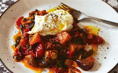 Squash & Eggplant Caponata with Burrata