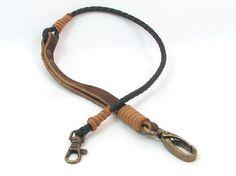 FREE SHIPPING..Leather Lanyard,Lanyard,leather key chain,keyfob ,leather keyring key fob Steel Ring handmade leather lanyard,fashion lanyard
