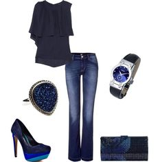Black and Blue clothes