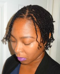 This is a Pic of One of My Clients. She is about to Start her Lock Journey...  :-) #LocStartUp #TwoStrandTwist #NaturalHair AKiyia.webs.com