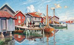 Johan Ericsson (1849-1925): Motiv från Smögen, 1919