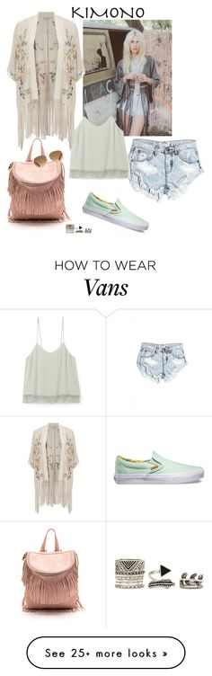 """☀️"" by bukitafrey on Polyvore featuring One Teaspoon, Free People, Miss Selfridge, Rebecca Minkoff, Vans, Stella & Dot, Forever 21 and kimonos"