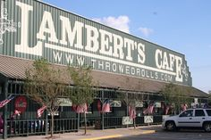 "Lambert's Cafe located in Ozark, Missouri and Sikeston, Missouri / Southern style cooking and ""throwed"" rolls.   if you leave there hungry, it's your own fault!"