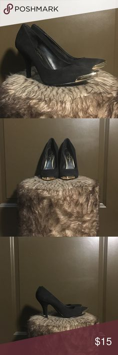 Jessica Simpson Heels Worn once Suede w/ gold tip No lowballing Jessica Simpson Shoes Heels