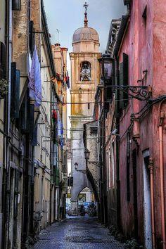 Un vicolo di Chioggia Veneto, Italia