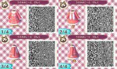 Animal Crossing: New Leaf - pink bunny dress QR-code