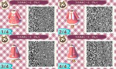 pink and bunny coat - animal crossing new leaf clothe QR code