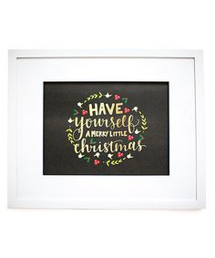 Look what I found on #zulily! 'Merry Little Christmas' Print #zulilyfinds