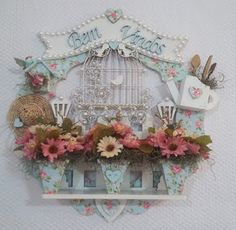 Wood Crafts, Diy And Crafts, Shadow Box, Wooden Signs, Shabby Chic, Clock, Wreaths, Frame, Flowers